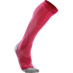 2XU Compression Performance Run Socks Dam hot pink/grey